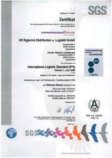 Rigterink Logistik, Spedition Nordhorn - SGS-Zertifikat